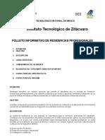 Folleto Inform Resididencia Rofesional