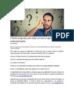 5 Fáciles Preguntas Para Elegir Una Buena Agencia de Publicidad Digital