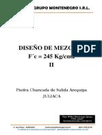 DISEÑO DE CONCRETO (MEZCLA) - TECNOLOGÍA DEL CONCRETO