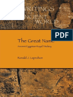 (SBL Writings from the Ancient World 33) Ronald J. Leprohon-The Great Name_ Ancient Egyptian Royal Titulary-Society of Biblical Literature (2013)