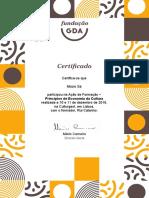 Certificado AF FGDA