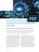 How Disruptive Technologies Are Opening Up Innovative Opportunities in Services
