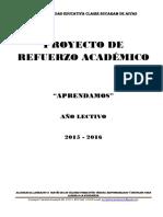 Proyecto de Refuerzo - Matemática 1P 1Q