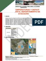 Bajas Temperaturas y Deficit Pluvial en Ayacucho