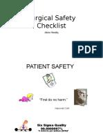 Surgical Safety Checklist 2018