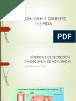 Adh, Siadh y Diabetes Insipida