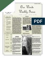 Newsletter Volume 9 Issue 41