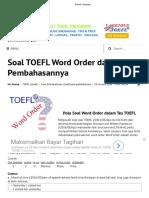 3. Word Order