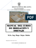 Manual del Curso de Irrigacion - HUGO ROJAS RUBIO