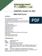 2010 NMU Meet Itinerary