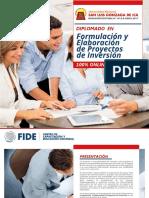 507 Formulacion y Elaboracion de Proyectos de Inversion FIDE