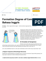 A. Materi Degree of Comparison Bahasa Inggris