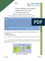 STUDY OF THE OCDMA TRANSMISSION CHARACTERISTICS USING BIDIRECTIONAL OPTICAL FIBER LINK, BASED ON EDW CODE