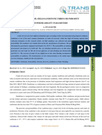 A STUDY ON OIL FIELD SANDSTONE THROUGH POROSITY AND PERMEABILITY PARAMETERS