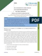 PROCESSING AND MECHANICAL BEHAVIOUR OF HUMAN HAIR FIBER REINFORCED POLYMER COMPOSITES
