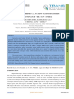 DESIGN AND EXPERIMENTAL STUDY OF SEMI ACTIVE SYSTEM OF MR DAMPER FOR VIBRATION CONTROL
