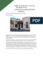 INFORME SOBRE EL MUSEO DE LA CASA DE RICARDO PALMA.docx
