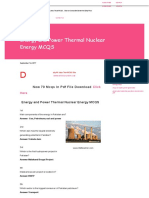 Energy and Power Thermal Nuclear Energy Mcqs