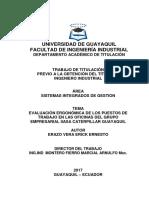 Universidad de Guayaquil Tesis Ergonomia en Puesto de Trabajo Erick Erazo Vera