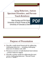 Challenging Behaviors, Autism Spectrum Disorders, and Prevent-Teach-Reinforce
