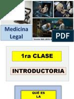 1ra Clase Introductoria Medicina Legal por Norma Guillén