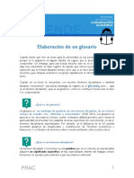 Breve tutorial para la elaboración de glosarios