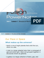 Lesson 1 - Structure of the Universe