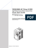 Yaskawa A1000 Quick Start