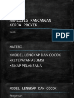 Analisis Rancangan Kerja Proyek