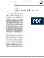 Cara Francesca, ho mantenuto la promessa - La Repubblica del 20 dicembre 2018