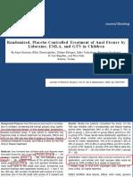 Treatment of Anal Fissure by Lidocaine, Emla, Gtn