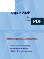 ABAP OOPS