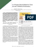 (JTEC) Roshidi Din & Sunariya Utama-Analysis Review of Feature-Based Method in Term of Verification and Validation Performance