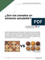 Son Los Cereales Un Alimento Saludable. Jonathan Moreno Del Saz