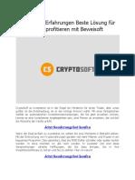 Cryptosoft ultimativer Gewinn