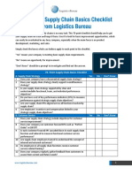 Supply Chain Basics Checklist