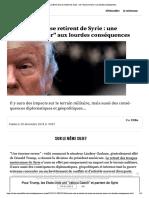 Les Etats-Unis Se Retirent de Syrie