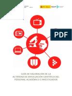 Guía de Valoración de La Actividad de Divulgación Científica Del Personal Académico e Investigador