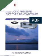 Fujitsu HIGH STATIC PRESSURE Air Conditioner