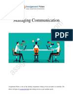Importance Of Communication Management in a Firm