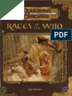 [D&D 3.5] Races of the Wild