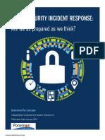 Lancope Ponemon Report Cyber Security Incident Response