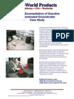In-Situ Bio Remediation of Gasoline Contaminated Groundwater Case Study