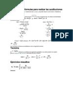 Deducción de Fórmulas Para Realizar Las Sustituciones