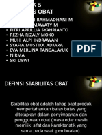 Kelompok 5 Stabilitas Obat