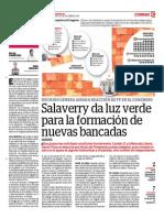 Salaverry Da Luz Verde Para La Formación de Nuevas Bancadas
