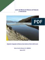 Manual de Operación Del Manejo de Relaves de Flotación y Cianuración