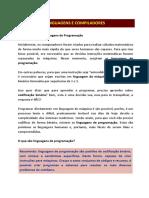 Linguagens e Compiladores