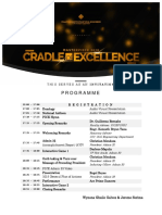 Cradle of Excellence Online Invitation