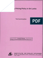 Electricity Pricing Policy in Sri Lanka
